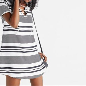 Express Black and White Shift Dress